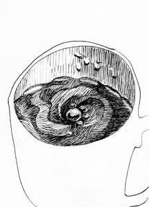 コップのじかん06(ミリペン画)