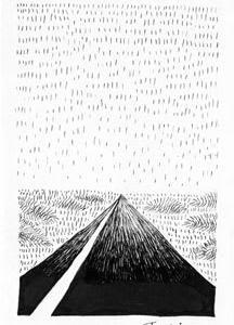 本日のシュール-違和感の調和1歌、2歌(ミリペン画)