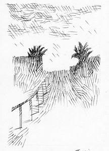 「本日のシュール-明暗」9意識(ミリペン画)