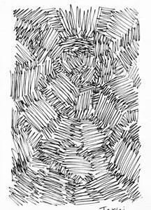 「本日のシュール-面」1想(ミリペン画)