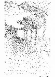 「本日のシュール-点」3粒(ミリペン画)