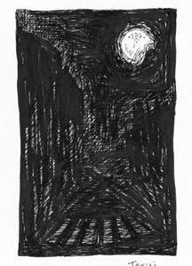 「本日のシュール-暑」1気(極太ペンとミリペン画)