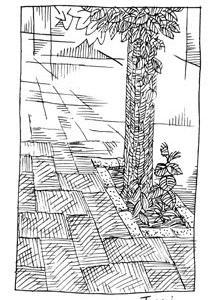 「本日のシュール-幻」7睡(ミリペン画)
