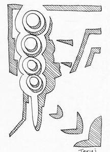 「本日のシュール-影箱的」7、8層(ミリペン画)