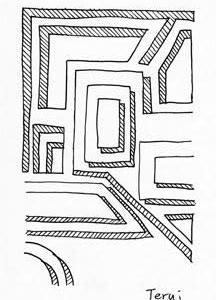 「本日のシュール-影箱的」9層(ミリペン画)
