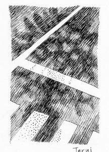 「本日のシュール-思い出」3、4謡(ミリペン画)