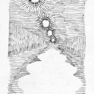 「本日のシュール-余白」2間(ミリペン画)