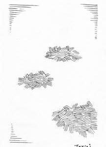「本日のシュール-余白」3、4間(ミリペン画)
