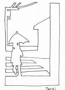 「本日のシュール-影絵線」11、12版(ミリペン画)