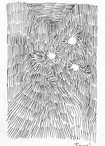 「本日のシュール-発光」1様(ミリペン画)