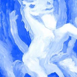 「蒼海馬」14(アクリル画)