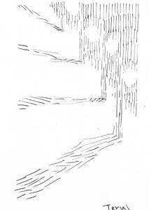 「コロナ下の散歩-風景」5景(ミリペン画)