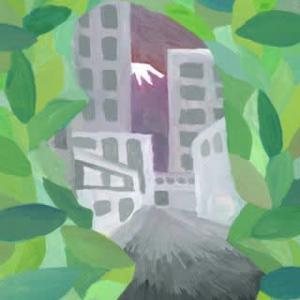 「街人-machibito-」9(アクリル画)