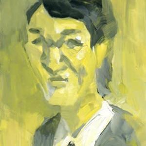 黄色から黒(似顔絵)