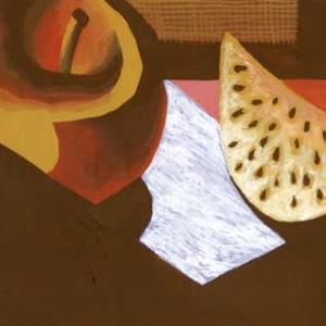 「朝食の前」2(アクリル画)