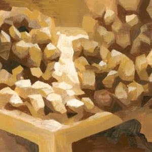 「朝食の前」5(アクリル画)