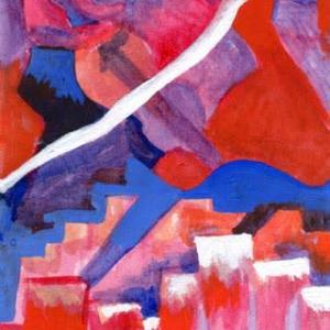 弦楽器とタンゴ(アクリル画)