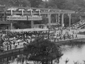 1966年頃の上野動物園モノレール