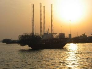 アブダビの港の風景(1)