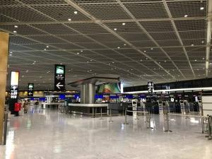 ガラガラの成田空港(2021年4月2日)