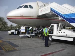 アブダビ空港での入国