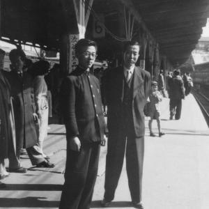 父の誕生日(1950年頃の新宿駅)
