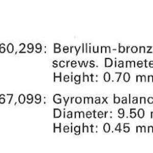 How many movements beared beryllium-bronze balance for cal.12-600AT