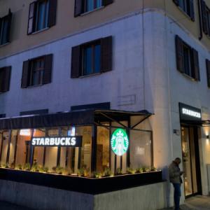 I've visiting STARBUCKS in Milano first time
