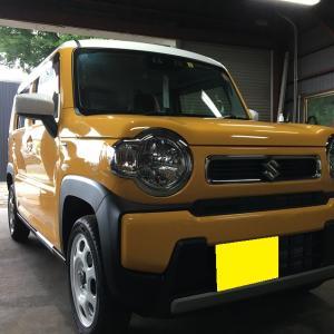 新車ご成約ハスラー クオーツアクアミカガラスコーティング施工!