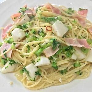 ベーコンと蕪のスパゲッティ