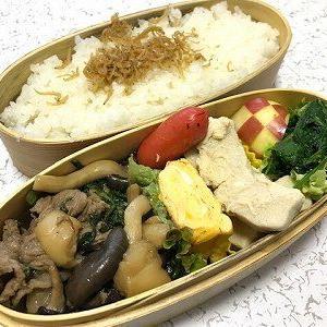 ヒラタケと牛肉の煮物弁当