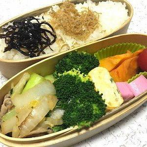 白菜と豚肉の中華風炒め弁当