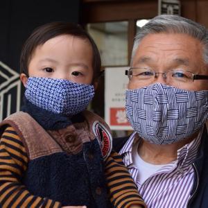 9966回 凧人手拭いマスク