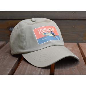 10101回 凧人オリジナルキャップ・HAPPI&SURF ベージュ