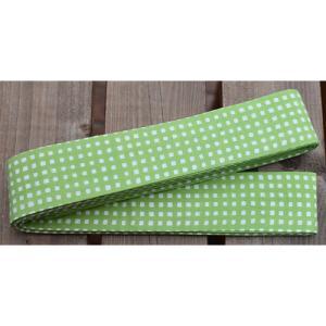 10105回 凧人オリジナル綿紬 袢纏帯 一分角通 若草色