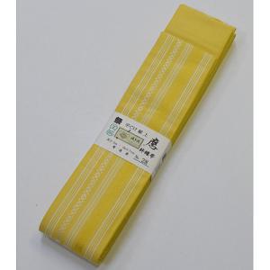 10110回 博多帯平ぐけ 献上 黄色