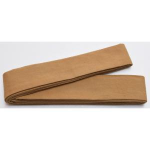 10370回 凧人オリジナル綿紬 袢纏帯 唐茶