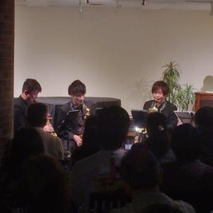 1/18(土)マチネ Vario Saxophone Quartet 2nd LIVE♪