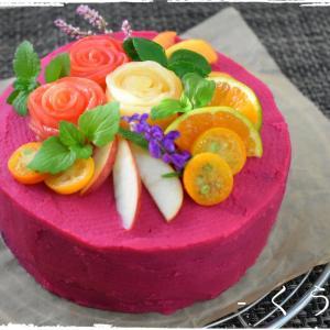 * 誕生日会のケーキ *