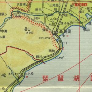 滋賀県 古地図 江若(こうじゃく)鉄道 廃線跡