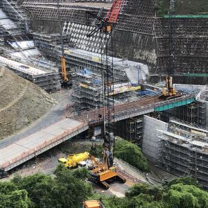 茨木市 安威川ダムの建設中を見てきた 巨大建造物