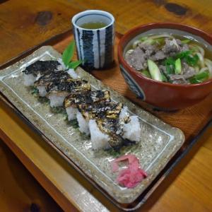 寺坂(下市町)の あまご炙りずしと肉うどん/昭和レトロ食堂(1)