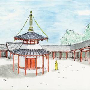 行基菩薩の供養堂か/喜光寺の西側(菅原遺跡)で円形建物跡!