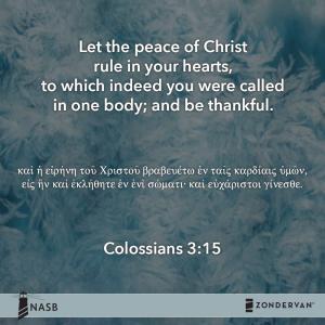キリストの平和で心を満たすとは