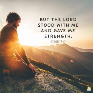 神に支えられて使命は全うできる