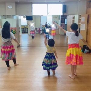横浜 小学生フラダンス!イベントに向けて!