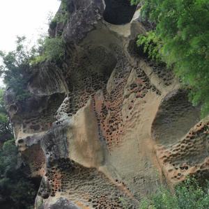 高池の虫食岩