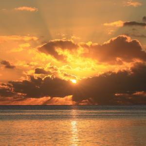 ひろげの浜の夕日 2021.9.19