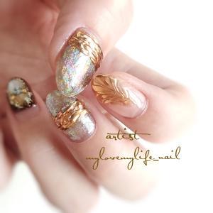 Aurora × Mirror by mylovemylife_nail