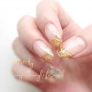 Mirror × French by mylovemylife_nail